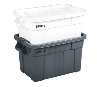 Rubbermaid FG9S3000WHT 14 Gallon BRUTE Tote with Lid