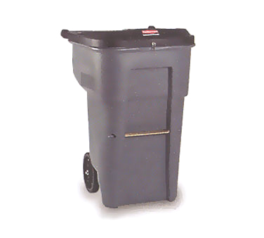 Rubbermaid FG9W1188GRAY BRUTE Secure Confidential Document Container 95 Gallon