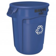 Rubbermaid Brute Blue Recycling Container, 32 Gallon