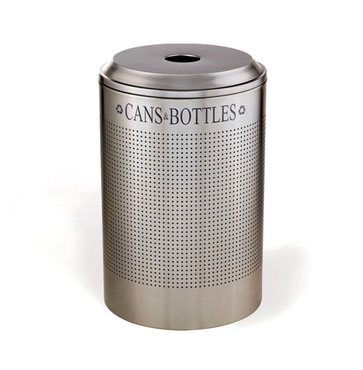 Rubbermaid FGDRR24CSM Silhouette Recycling Container Round Can