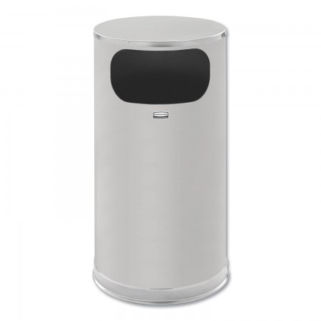 Rubbermaid European and Metallic Side-Opening Waste Receptacle, 12 Gallon