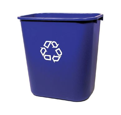 Rubbermaid FG295673BLUE Deskside Medium Recycling Container