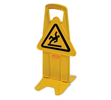 Rubbermaid FG9S0925YEL International Wet Floor Symbol Stable Safety Sign
