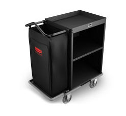 Rubbermaid FG9T6000BLA Compact Housekeeping Cart