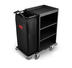 Rubbermaid FG9T6100BLA Deluxe Compact Cart