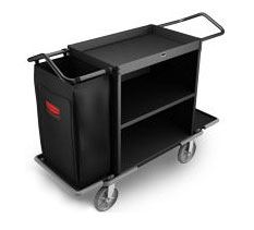 Rubbermaid FG9T6200BLA High Capacity Housekeeping Cart