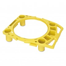 Rubbermaid Standard Rim Yellow Caddy For 44 Gallon, Containers