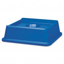 Rubbermaid Untouchable Bottle and Can Recycling Top, Square, Blue