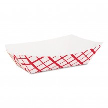 SCT Paper Food Baskets, 3 lb., Red/White, 500/Carton
