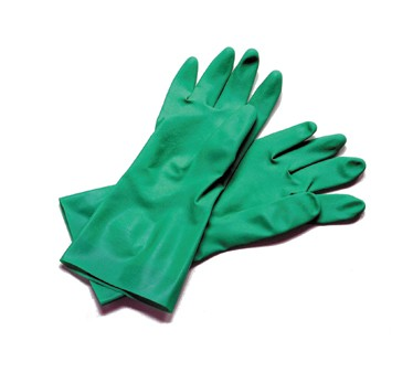 San Jamar 13NU-L Large Nitrile Flocked Gloves