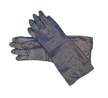 San Jamar 238SF-L Large Black Neoprene Flocked Glove