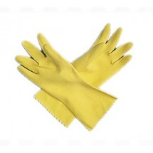 San-Jamar-620-XL-Extra-Large-Yellow-Latex-Flocked-Glove