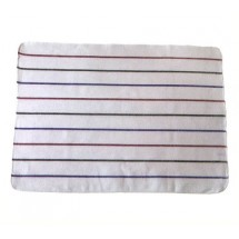 San Jamar 703HB28 Multi Colored Stripes Herringbone Towel