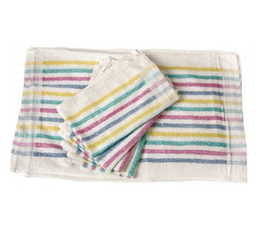 San Jamar 705MSK Multi Colored Stripes Bar Towel