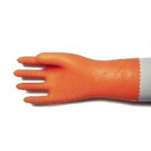 San Jamar 720-M Medium Orange Neoprene Flocked Glove