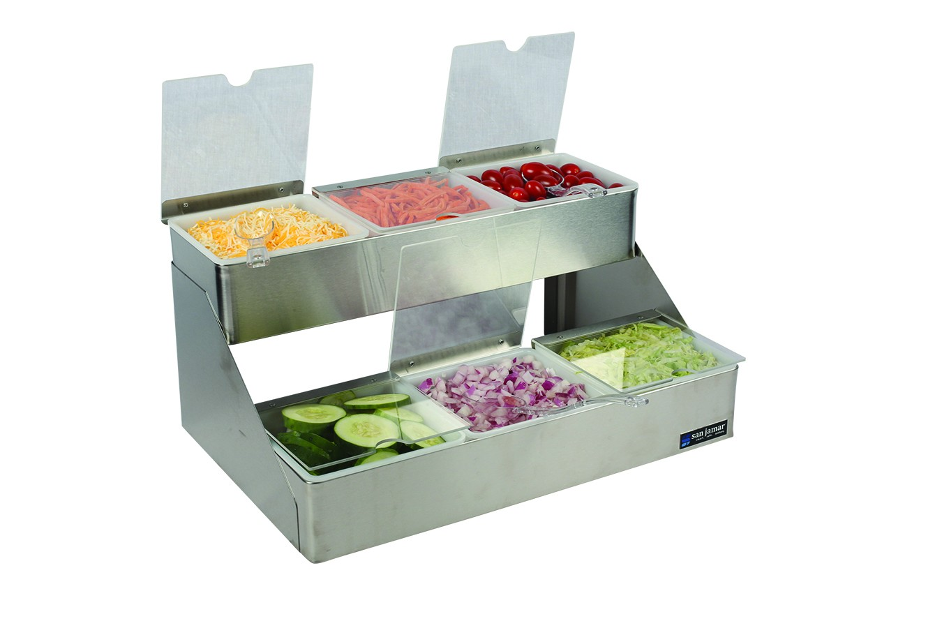 San Jamar B4706INL Two Tier Condiment Bin 6 Qt. Capacity