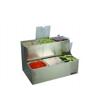 San Jamar B6706INL EZ-Chill 2 Tier Condiment Tray