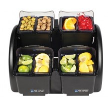 San Jamar BDS2401NL Dome Stacker, 2/2 Mini Domes, 2 Quart Deep Trays