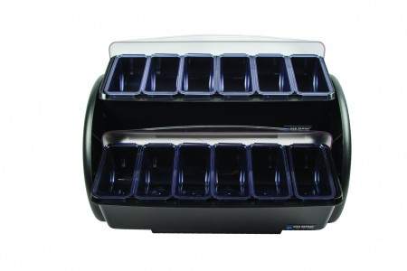 San Jamar BDS4206 Dome Stacker Dome 12-Compartment Two Tier Condiment Bar