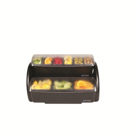 San Jamar BDS4266 Dome Stacker 9-Compartment Two Tier Condiment Bar