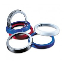 San Jamar C22XC Chrome Euro Ez-Fit Finish Rings For C2210C
