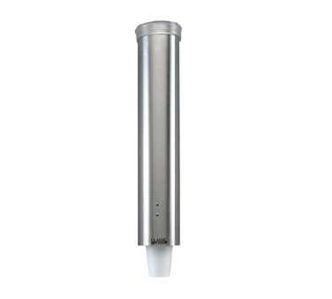 San Jamar C3000PSS Pull-Type Stainless Steel Wall Mount 1-3/4 - 4.5 oz. Portion Cup Dispenser