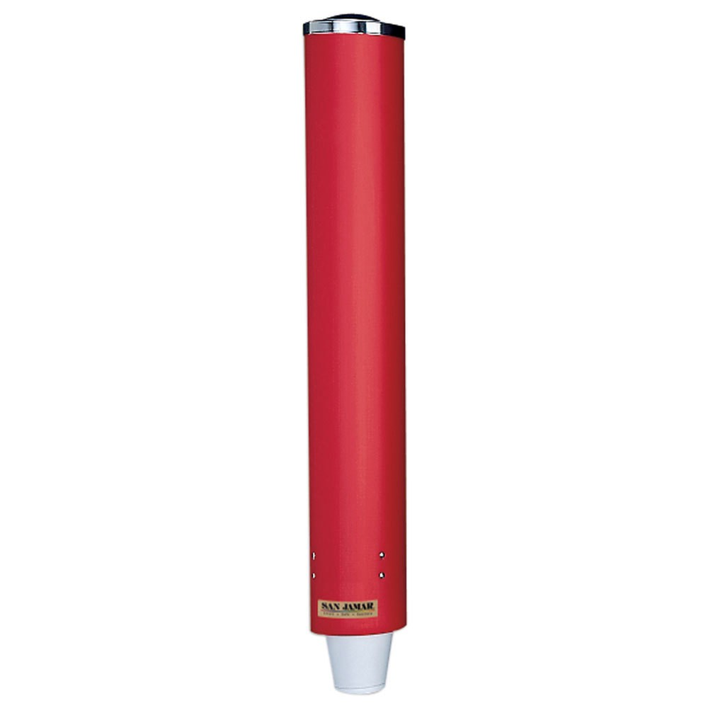 San Jamar C4210PRD Red 4-10 Oz. Paper Or Plastic Water Cup Dispenser