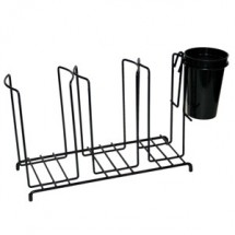 San Jamar C8003WFS Cup And Lid Wire Organizer With 3 Stacks