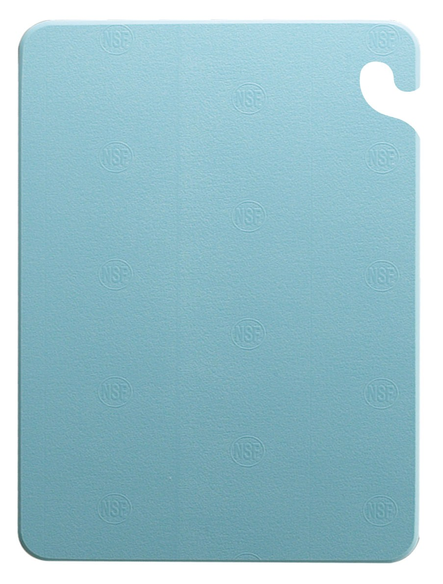 "San Jamar CB121812BL Cut-N-Carry Blue Cutting Board 12"" x 18"""