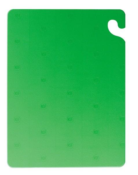 "San Jamar CB121812GN Cut-N-Carry Green Cutting Board 12"" x 18"""