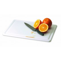 "San Jamar CB121812GVWH Kolor-Cut White Grooved Cutting Board 12"" x 18"" x 1/2"""