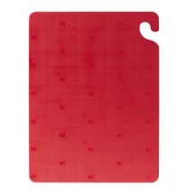"San Jamar CB121812RD Cut-N-Carry Red Cutting Board 12"" x 18"""