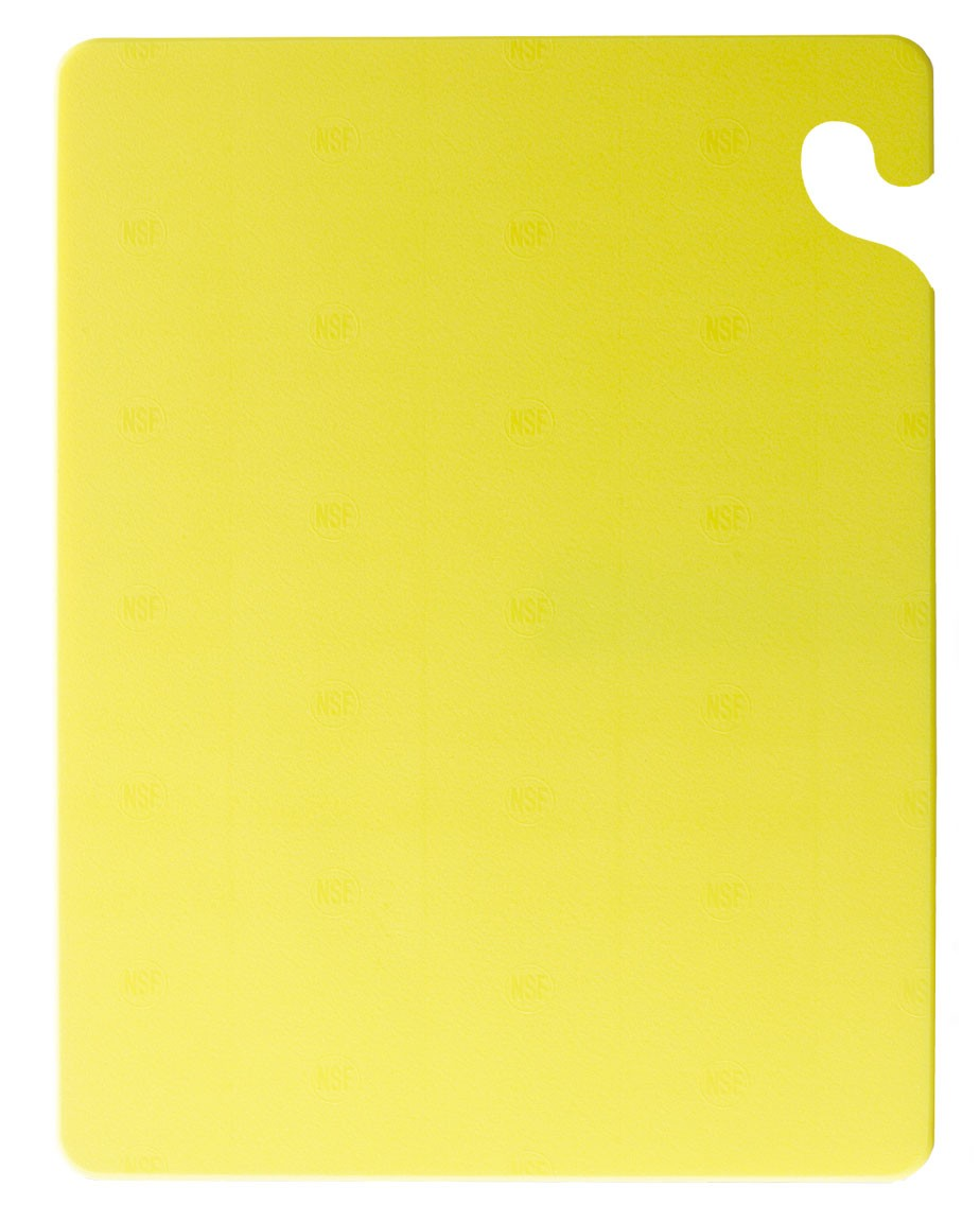 "San Jamar CB121812YL Cut-N-Carry Yellow Cutting Board 12"" x 18"""