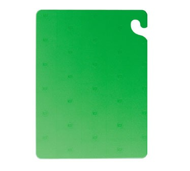 "San Jamar CB121834GN Cut-N-Carry Green Cutting Board 12"" x 18"""