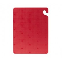"San Jamar CB121834RD Cut-N-Carry Red Cutting Board 12"" x 18"""