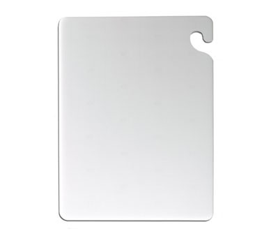 "San Jamar CB121834WH Cut-N-Carry White Cutting Board 12"" x 18"""