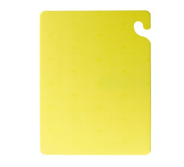"San Jamar CB121834YL Cut-N-Carry Yellow Cutting Board 12"" x 18"""