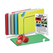 "San Jamar CB1218KC Cut-N-Carry 6 Piece Cutting Board Set 12"" x 18"" - 6 pcs"
