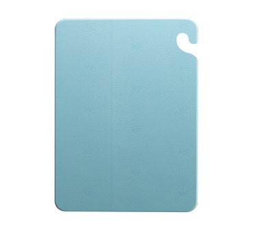 "San Jamar CB182434BL Cut-N-Carry Blue Cutting Board 18"" x 24"