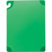 "San Jamar CBG121812GN Saf-T-Grip Green Cutting Board 12"" x 18"""