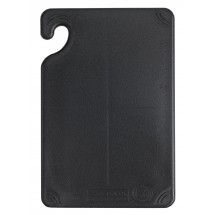 "San Jamar CBG6938BK Saf-T-Grip Non-Slip Grip Black Cutting Board 6"" x 9"""