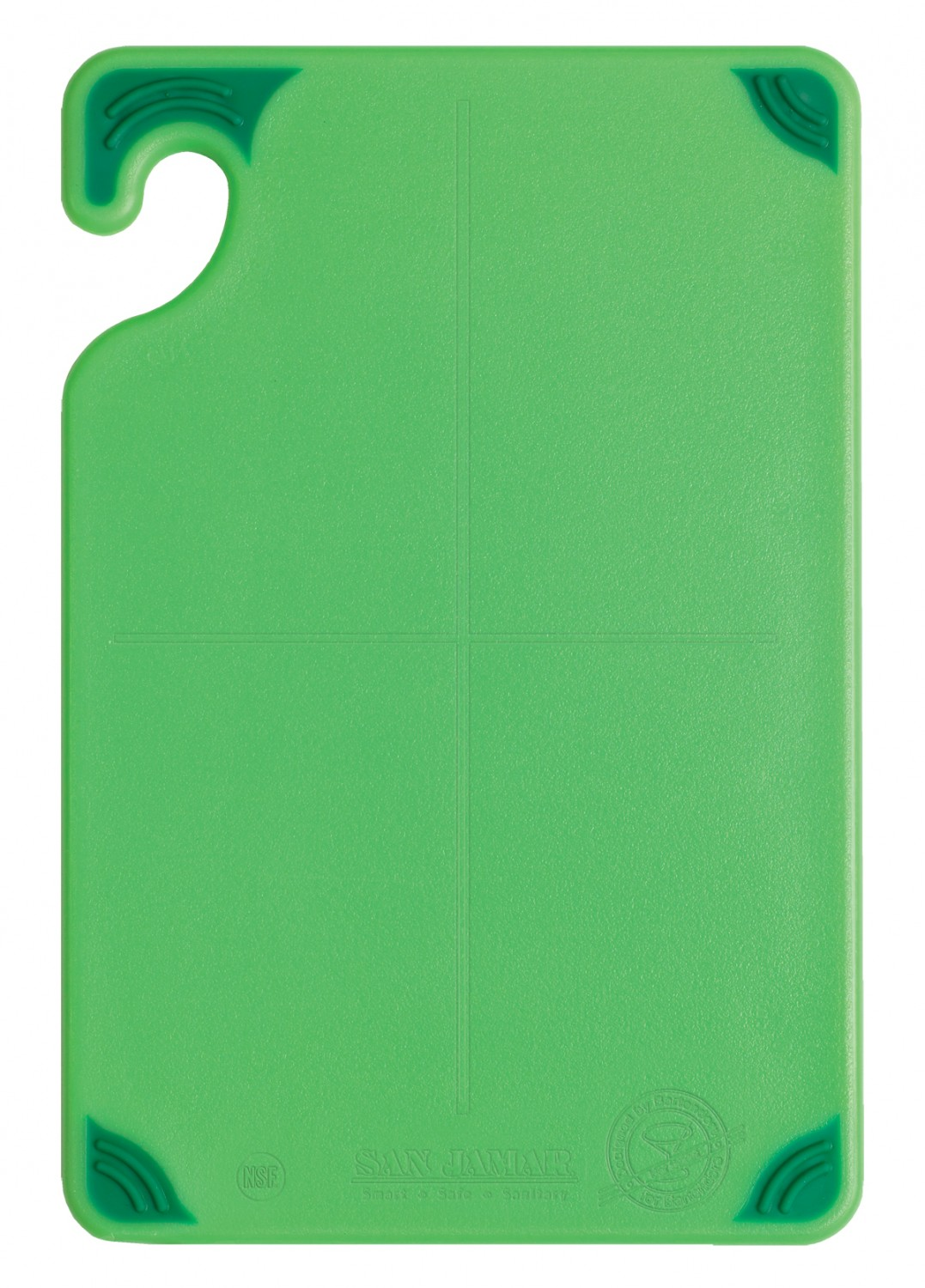 "San Jamar CBG6938GN Saf-T-Grip Non-Slip Grip Green Cutting Board 6"" x 9"""