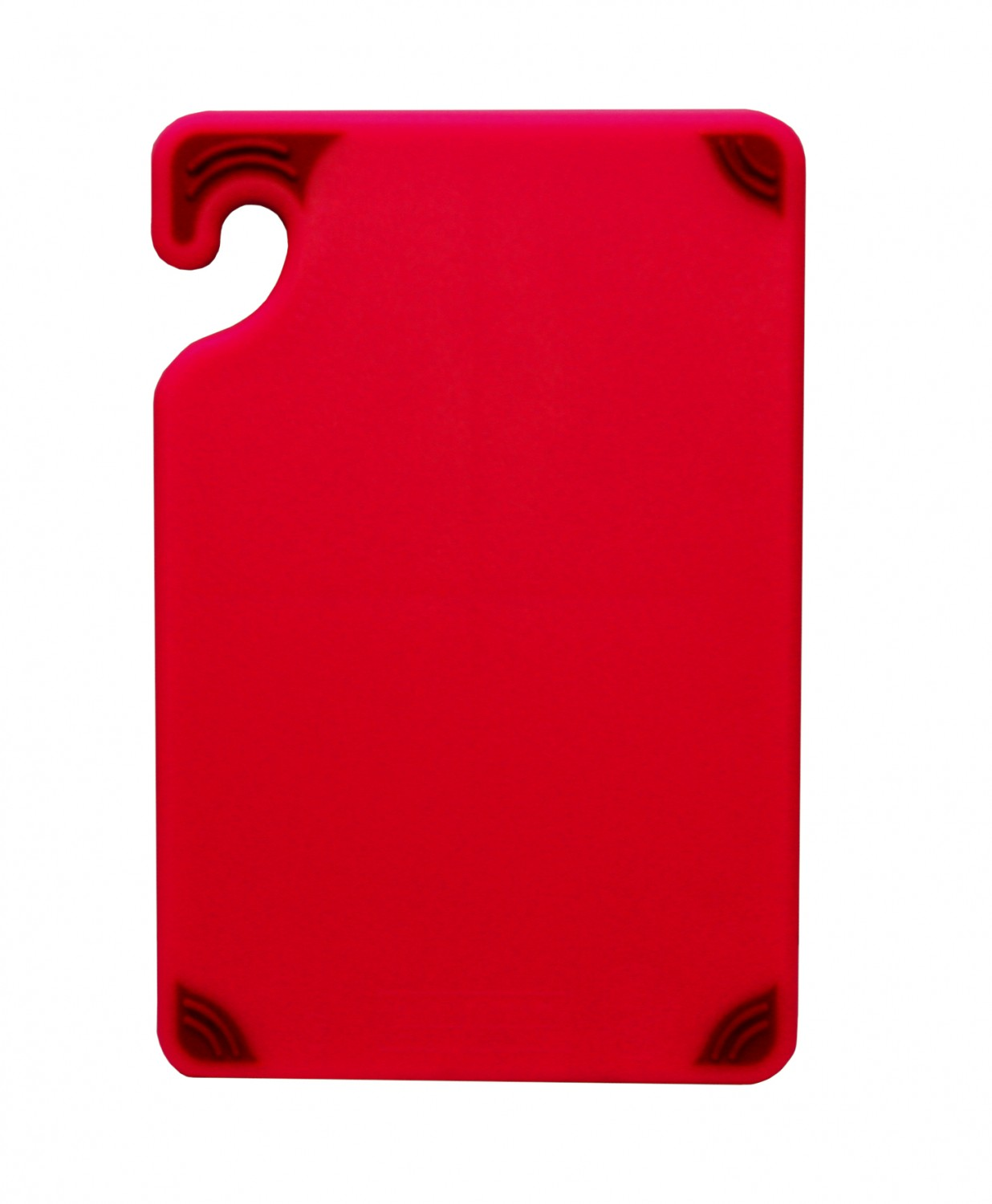 "San Jamar CBG6938RD Saf-T-Grip Non-Slip Grip Red Cutting Board 6"" x 9"""