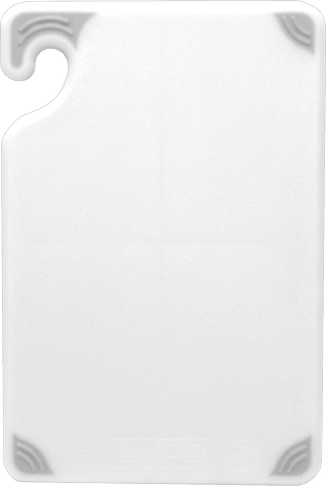 "San Jamar CBG6938WH Saf-T-Grip Non-Slip Grip White Cutting Board 6"" x 9"""