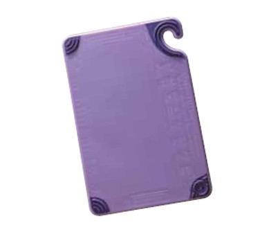 "San Jamar CBG912PR Saf-T-Grip Allergen Purple Cutting Board 9"" x 12"""