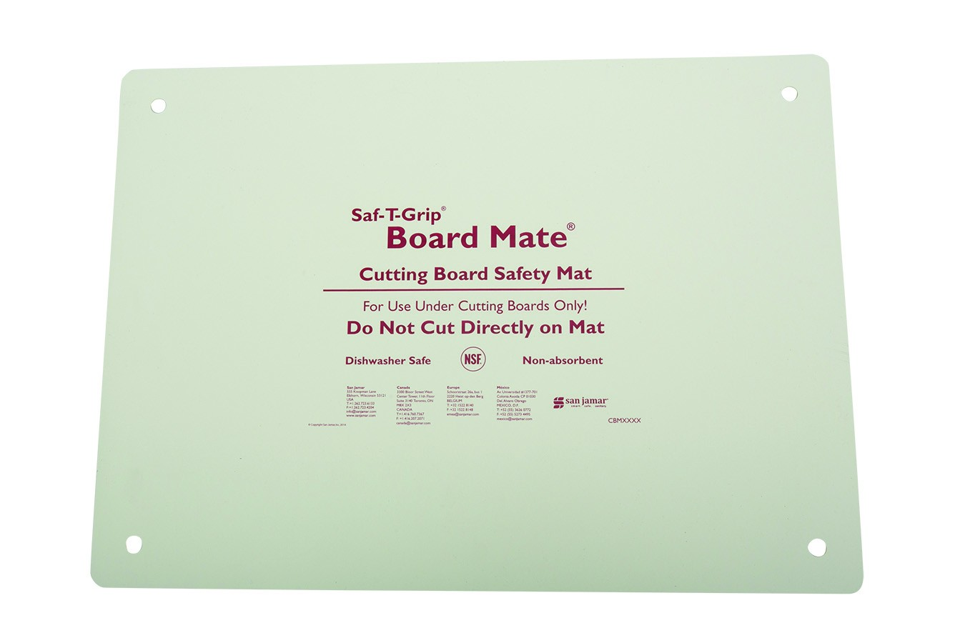 "San Jamar CBM1622 Saf-T-Grip Board-Mate Cutting Board Mat 16"" x 22"""