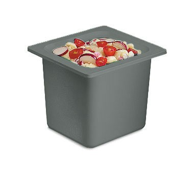 San Jamar CI7001BK Black Chill-It 1/6 Size Food Pan