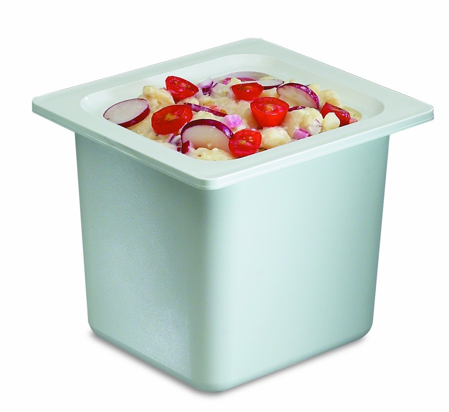 San Jamar CI7001WH White Chill-It 1/6 Size Food Pan