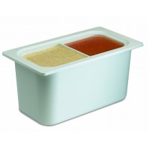 San Jamar CI7002WH White Chill-It 1/3 Size Divided Food Pan