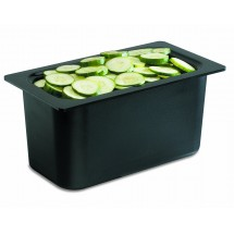 San Jamar CI7003BK Black Chill-It 1/3 Size Food Pan